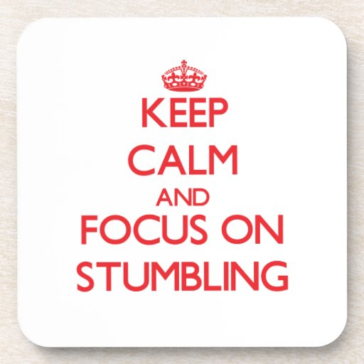 Håll lugn och fokusera på att snubbla glas underlägg