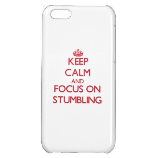 Håll lugn och fokusera på att snubbla iPhone 5C mobil skal