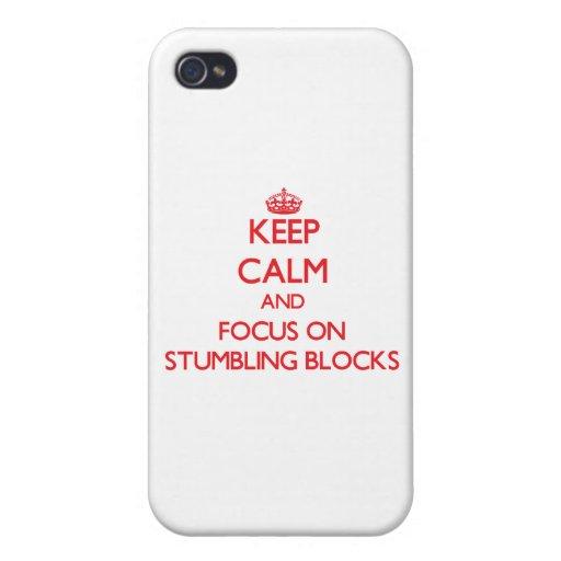 Håll lugn och fokusera på att snubbla kvarter iPhone 4 cover