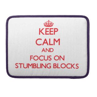 Håll lugn och fokusera på att snubbla kvarter sleeve för MacBook pro