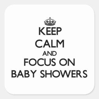 Håll lugn och fokusera på baby shower
