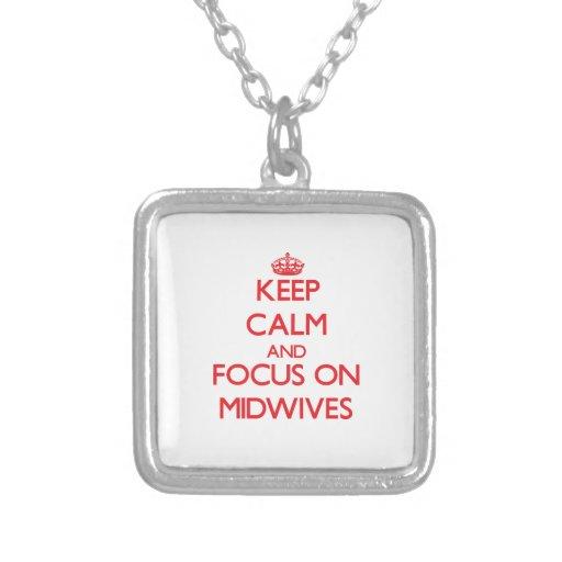 Håll lugn och fokusera på barnmorskor anpassningsbar halsband