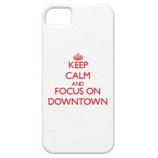 Håll lugn och fokusera på centra iPhone 5 skydd