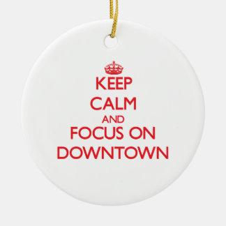 Håll lugn och fokusera på centra jul dekorationer