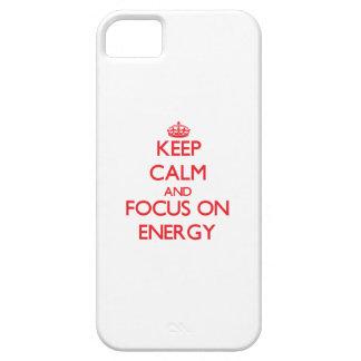 Håll lugn och fokusera på ENERGI iPhone 5 Fodraler