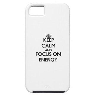 Håll lugn och fokusera på ENERGI iPhone 5 Case-Mate Cases