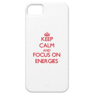 Håll lugn och fokusera på ENERGIER iPhone 5 Case-Mate Fodral