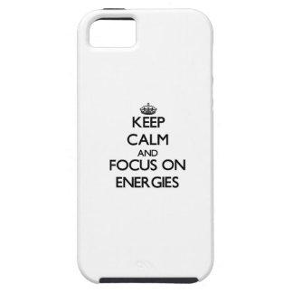 Håll lugn och fokusera på ENERGIER iPhone 5 Case-Mate Skal