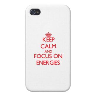 Håll lugn och fokusera på ENERGIER iPhone 4 Fodraler