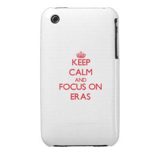 Håll lugn och fokusera på ERAS Case-Mate iPhone 3 Fodral