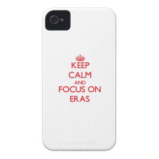 Håll lugn och fokusera på ERAS iPhone 4 Case-Mate Skal