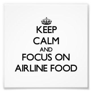 Håll lugn och fokusera på flygbolagmat foto