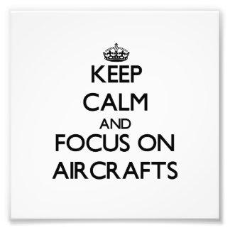 Håll lugn och fokusera på flygplan