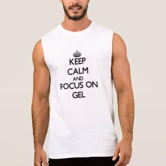 Håll lugn och fokusera på gelen sleeveless tröjor