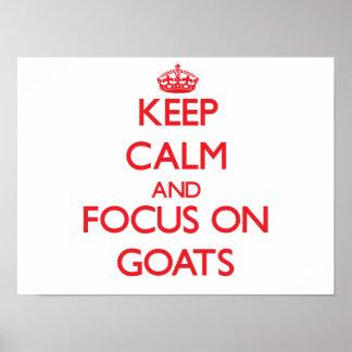 Håll lugn och fokusera på getter poster