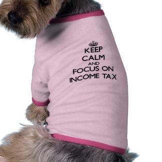 Håll lugn och fokusera på inkomstskatt tröja för hundar