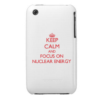 Håll lugn och fokusera på kärn- energi iPhone 3 skydd