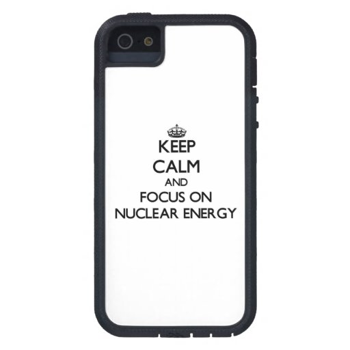 Håll lugn och fokusera på kärn- energi iPhone 5 Case-Mate cases