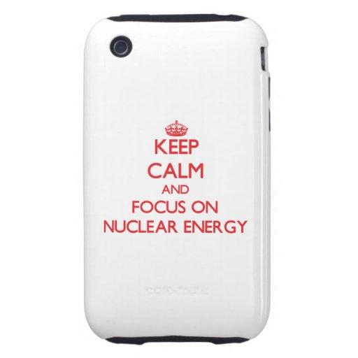 Håll lugn och fokusera på kärn- energi iPhone 3 tough skydd