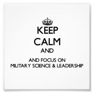 Håll lugn och fokusera på militär vetenskap & foton