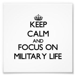 Håll lugn och fokusera på militärt liv foto