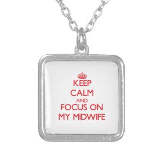 Håll lugn och fokusera på min barnmorska anpassningsbar halsband