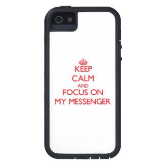 Håll lugn och fokusera på min budbärare iPhone 5 Case-Mate fodraler