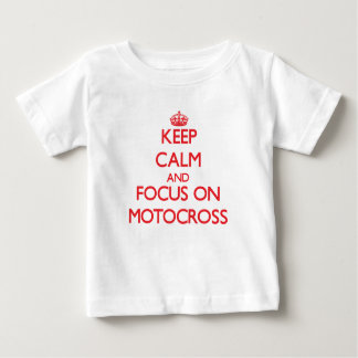 Håll lugn och fokusera på Motocross Tee