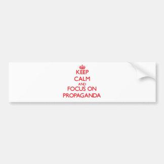 Håll lugn och fokusera på propaganda bildekal