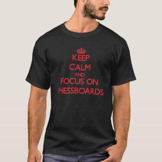 Håll lugn och fokusera på schackbräde tröja