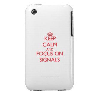 Håll lugn och fokusera på Signals Case-Mate iPhone 3 Fodral