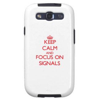 Håll lugn och fokusera på Signals Galaxy S3 Fodral