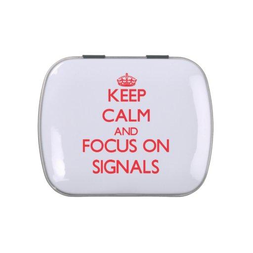Håll lugn och fokusera på Signals Godisburk Av Jelly Belly