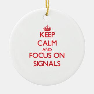 Håll lugn och fokusera på Signals Jul Dekorationer