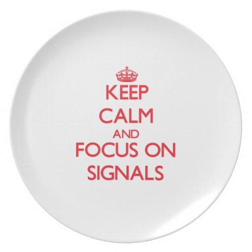 Håll lugn och fokusera på Signals Fest Tallrikar
