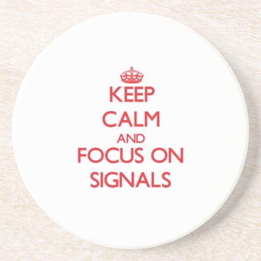 Håll lugn och fokusera på Signals Dryck Underlägg
