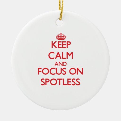 Håll lugn och fokusera på skina ren julgransdekoration