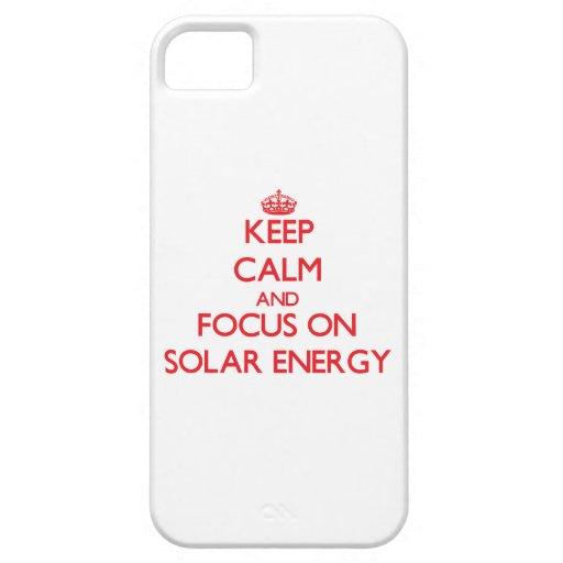 Håll lugn och fokusera på sol- energi iPhone 5 Case-Mate fodral