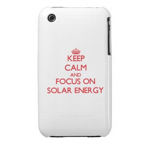 Håll lugn och fokusera på sol- energi
