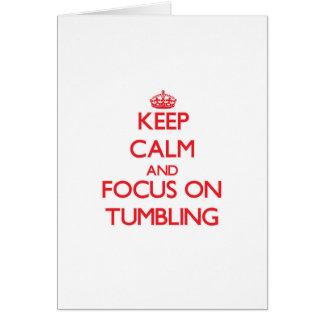 Håll lugn och fokusera på tumbling hälsningskort