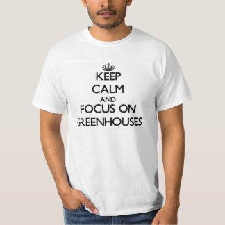 Håll lugn och fokusera på växthus tee