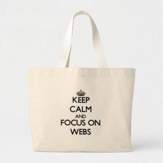 Håll lugn och fokusera på webs