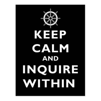 Håll lugn och fråga Within Vykort