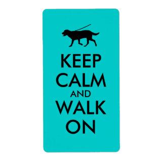 Håll lugn och gå på hunden som går Labrador Fraktsedel