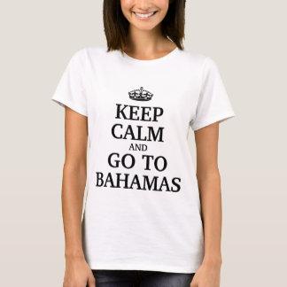 Håll lugn och gå till Bahamas T Shirt