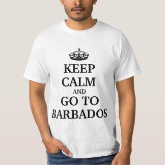Håll lugn och gå till Barbados Tee Shirt