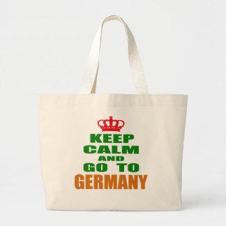 Håll lugn och gå till Germany. Jumbo Tygkasse