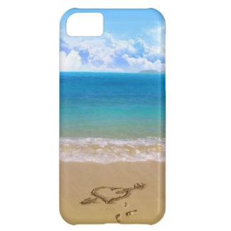 håll lugn och gå till stranden iPhone 5C fodral