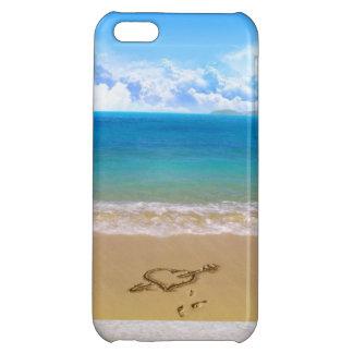 håll lugn och gå till stranden iPhone 5C mobil fodral