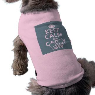 Håll lugn och glass (glass) (någon färg) husdjurströja